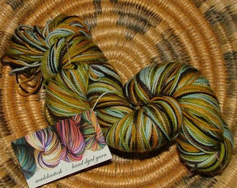 Madelinetosh Hand Dyed Sock Yarn Made in USA Color Ginsing Crochet  Knit