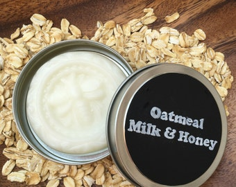 Lotion bar - Oatmeal Milk and Honey Lotion bar - Travel size - All natural