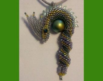 Beaded Dragon Necklace/Keychain