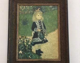 Vintage Print Renoir Girl