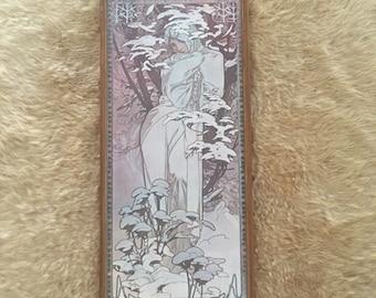 Vintage Alphonse Mucha Winter framed print