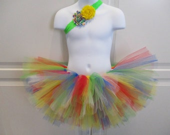 Primary Rainbow Tutu and Headband