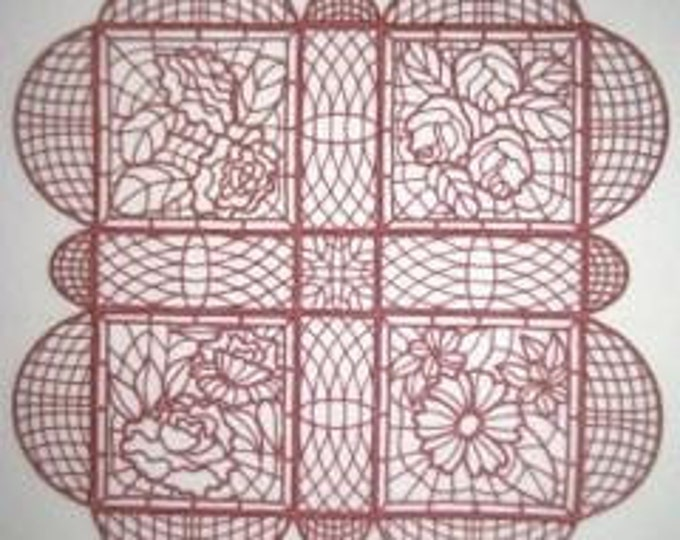 FSL Table Linens Project  ( 16 Free Standing Lace Machine Embroidery Designs from ATW )