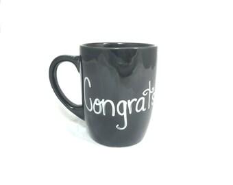 Hand Painted Congratulations Mug