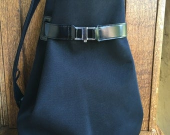 Large,Black, Backpack, Purse