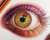 Colored Pencil Eye Drawin...