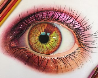 Colored Pencil Eye Drawing