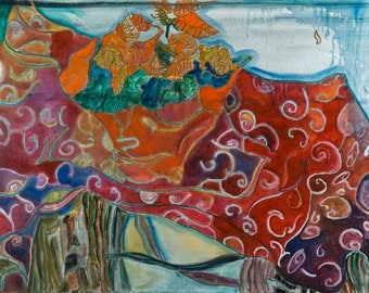 Still life with Weihnachtsstern. 60 x 80 cm. 2010. Oil on canvas.