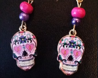 Earrings Mexican mask