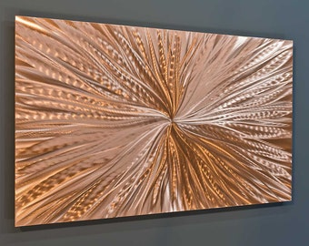 Copper Wall Decor abstract metal art | etsy