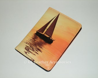 High Quality Faux Leather Passport Holder Case (Sailing Yacht)
