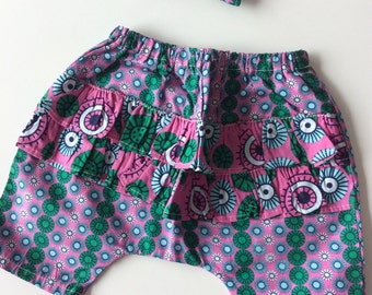 Short baby girl ELIA fabric African wax