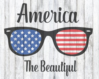 SVG Files, America the Beautiful, Sunglasses