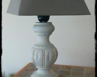 Lamp patinated à l