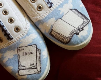 Open book shoes