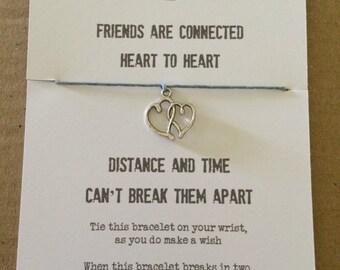 Friends distance wish bracelet