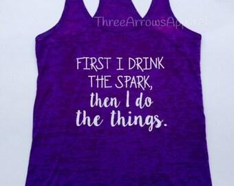 Ladies Spark Workout Gym Tank Purple Racerback Burnout
