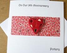 9th Wedding Anniversary Gift Ideas Uk : 9th wedding anniversary card pottery ninth anniversary gift
