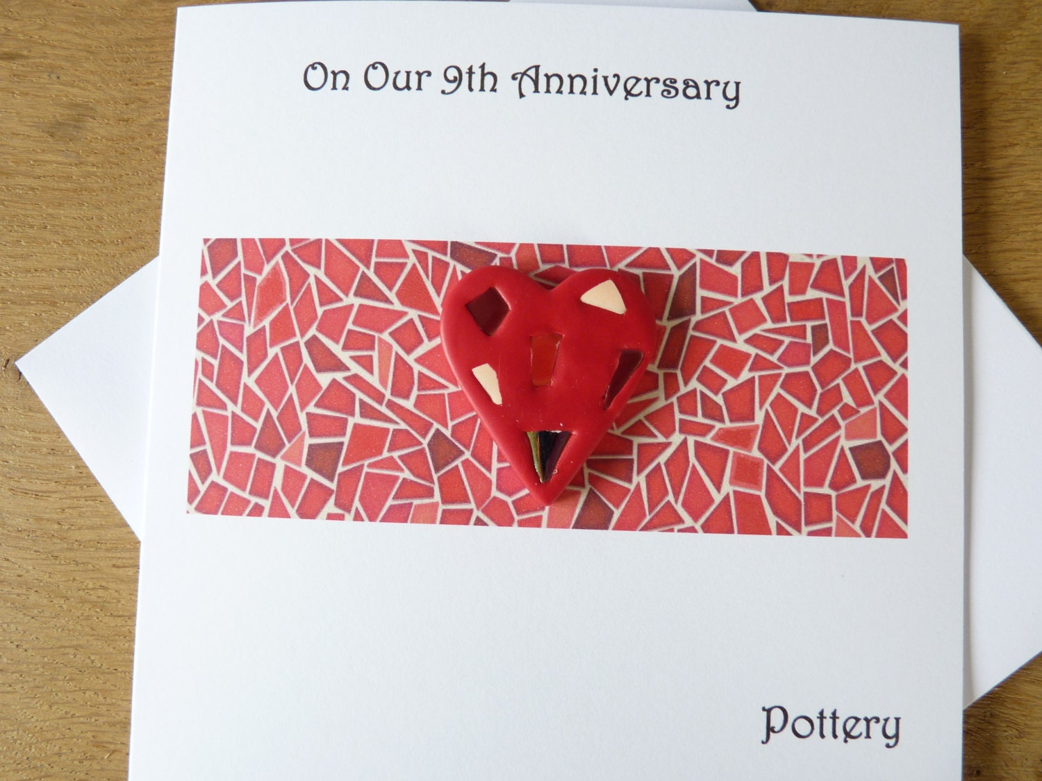 9th Anniversary Pottery For Wedding: 9th Wedding Anniversary Card Pottery Ninth By