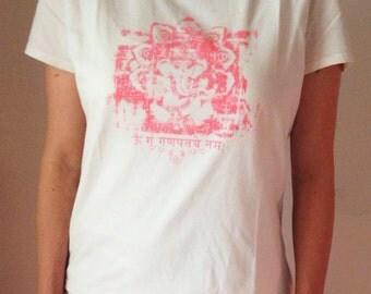 "women's organic cotton yoga t-shirt ""Ganesha"""