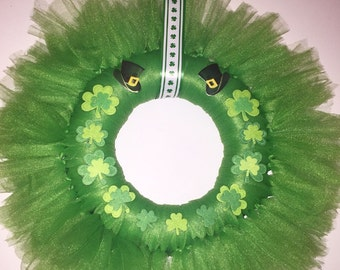 St. Patrick's Day tulle wreath!