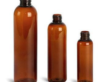 Amber Bottle 4/8/16oz Pack of 10