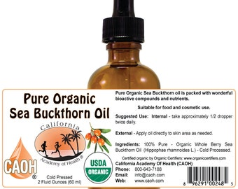 Sea Buckthorn Oil 100% Pure and Organic