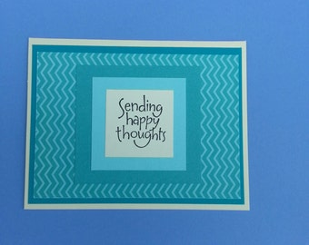 Greeting Card, Get Well Soon Greeting, Handmade, Get Well Soon Card, Thinking Of You, Sending Happy Thoughts