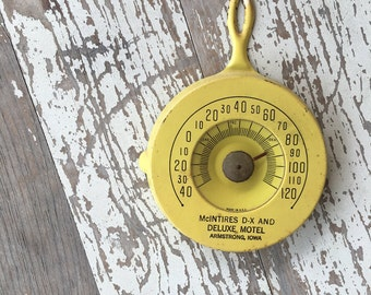 1950s Yellow Frying Pan Thermometer - Advertising