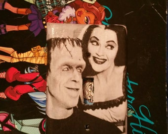 Herman and Lily Munsters Light Switch Plate