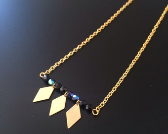 Ras neck diamonds & pearls Swarovski necklace