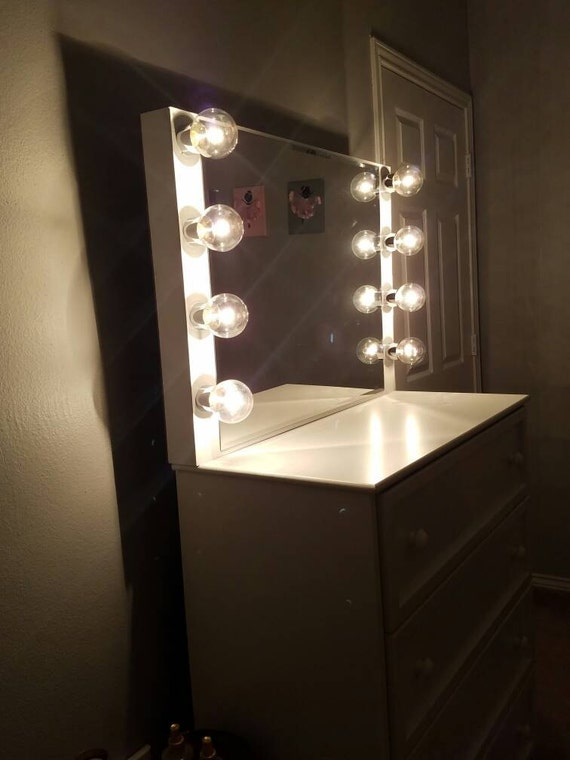 vanity mirror with lights by charmvanities on etsy. Black Bedroom Furniture Sets. Home Design Ideas