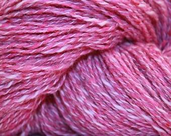Farmhouse Yarns Silk Blend DK, color HOT PINK