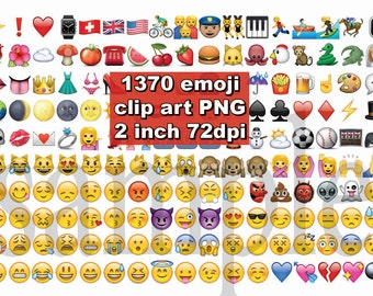 Instand DL - 1370 Emoji Clipart images Emoticons clip art  Smiley png transparent background Digital Clipart Graphic Instant Download