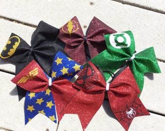 Super Hero Justice League Cheer Bow