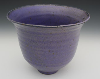 Large purple and blue bowls.