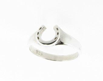 Sterling Silver Horseshoe Ring  UK Sizes - K - R - US Sizes - 5 - 8.5