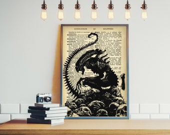 Aliens poster Movie poster Wall art Room decor