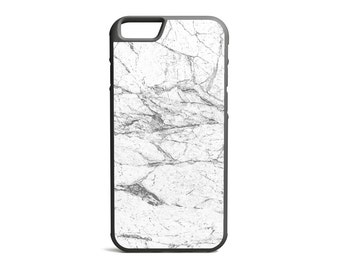 Split White Marble Print Phone Case, Marble Case, Marble Print, Rubber Bumper Case, iPhone Case, iPhone Cover, iPhone Bumper \ bc-pp007