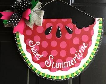 Watermelon door hanger summer door hanger sweet summertime