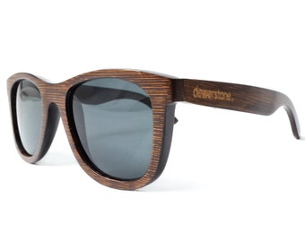dewerstone - Cirros Bamboo Sunglasses Polarized - Brown Wood