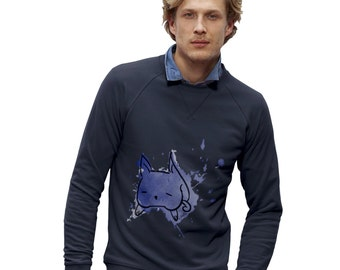 Men's Ink Splat Cat Sweatshirt