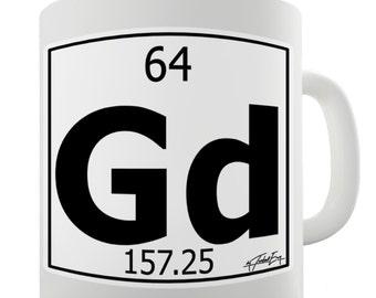 Periodic Table Of Elements Gd Gadolinium Ceramic Novelty Gift Mug