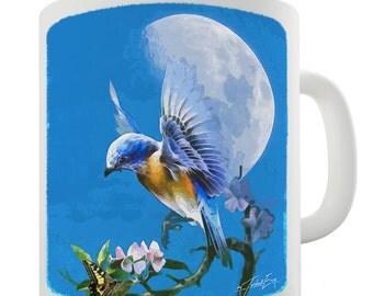 Bird Fly at Moonlight Ceramic Funny Mug