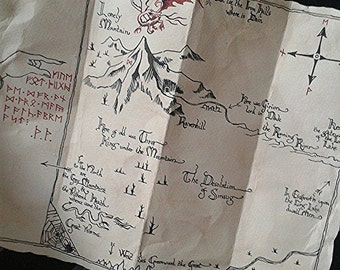 Erebor's Map Replica - The Hobbit