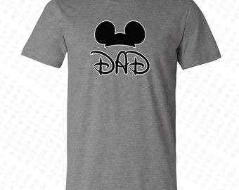 Mickey Dad Men's T-shirt Gift For Dad Gift For Him Couple Tanks Best Dad Shirt