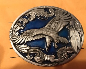 Eagle pewter belt buckle