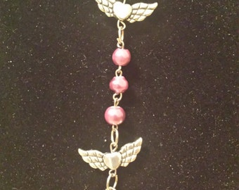 Pink Winged Rosary