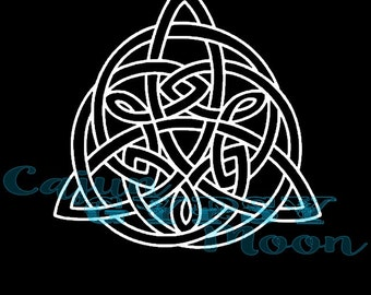 Triquetra, Window Decal, Pagan, Wiccan, Wiccan Decal, Wicca, Pagan Decal, Element Spiral Decal, Vinyl Decal, Air, Water, Earth, Spirit