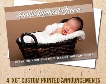 Full Photo Baby Announcement